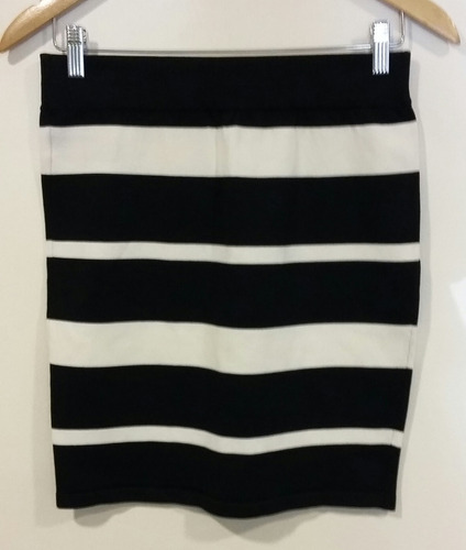 f4722df585 Pollera Rayada Blanco Y Negro Forever 21 Talle L
