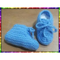 Escarpines Celeste Para Bebes Recien Nacidos De 0 A 3 Meses