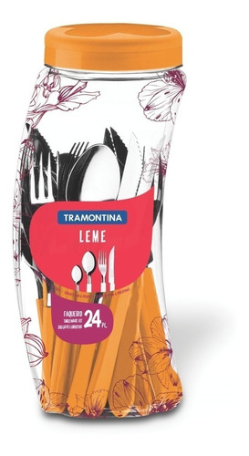 Cubiertos Tramontina Set Juego De 24 Acero Inox Leme Colores