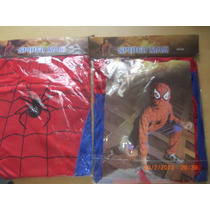 Disfraz Completo Batman, Zorro, Spiderman Rojo, Negro,