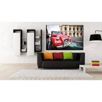 Citroen Rojo Paris Bastidor En Canvas De 120x80 Cm Exelente