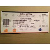 Entrada Platea Vip Ricky Martin  Fecha 12/03/16
