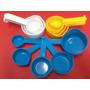 Set De Medidores De Tazas (indicador Impreso En Mango )