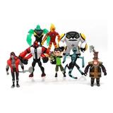Muñecos Ben 10 Figuras Articuladas 8 Modelos Alien Omnitrix