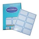 8 Etiqueta Escolar Pegasola ®  Autoadhesiva 6 X 3,80 Cm