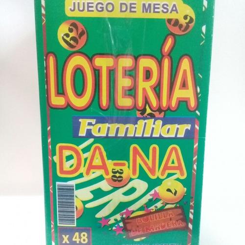 Loteria Familiar 48 Cartones Bolillas De Madera En Caja 130 En