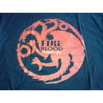 Remera Fire And Blood Targaryen