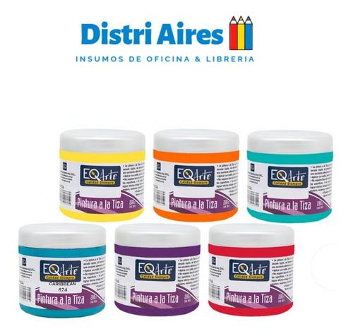 Set Eqarte Pintura A La Tiza Chalk 200cc X 6 Unidades Color