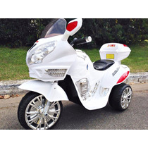 Moto Triciclo A Bateria Chicos 12 V Con Luces Y Sonido Mp3!!