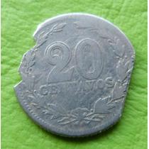 Moneda Argentina De Niquel De 20 Ctv 1897