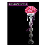 Porta Bouquet Pie De Topiario De Vidrio 50cm Arreglo Floral