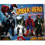 Set De 4 Muñecos De Spider Hero Con Luz De 15 Cmts.