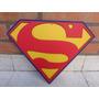 Superman Logo Escudo De Madera Con Relieve Comics Pelicula