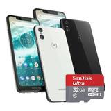 Celular Motorola Moto One 64gb 4gb C/ Micro Sd 32gb Regalo 6