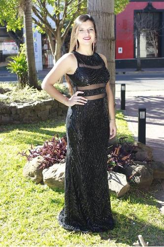 2393b366ce Vestido De Noche Gala Palliette Transparencia Moda Pasion