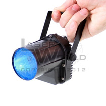 Pinspot Haz De Luz Led Azul P/ Bola Espejada, Luces Dj,