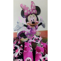 Minnie Mouse - Candy Bar Premium Completo Para 20 Niños
