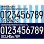 Estampado Números Camiseta Selección Argentina 2016