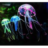Medusa Luminiscente - Fluo Para Pecera 5 Cm 6 Colores