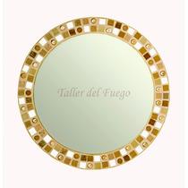 Espejo Redondo Venecitas 50 Cm., Calidad Superior, Oferta!!