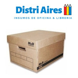 Caja Archivo  Reforzada Cartón  C/ Tapa Myd 406 Americana