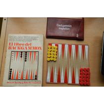 Juego Backgammon Portatil Con Estuche Mas Libro Vintage