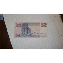 Billete De Dos Dolares De Singapur Serie 5.7
