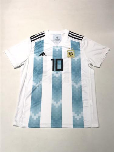 Camiseta Argentina adidas Mundial 2018 Titular 10 Messi -   2499 en ... 14644d26bd392