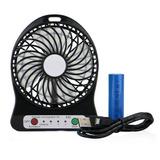 Ventilador  Recargable Usb 3 Velocidades C/bateria