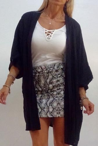 profesional de venta caliente ofrecer descuentos el mejor Kimono-lisos-estampados-fibrana//gasa- Filomena Leggins en ...