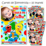 Cumple Primer Añito: Elmo - 15 Souvenirs Imantados + Cartel