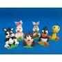 Centro De Torta Looney Tunes Bebe Porcelana Fría
