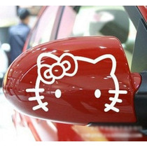 Par De Calcos Hello Kitty - Ideal Espejo - Envio Gratis