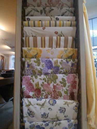 Telas panama mescla algodon estampada cortina cocina for Telas cortinas cocina