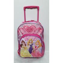 Mochila Carro Disney Princesas 16 Pulgadas - Mundo Team