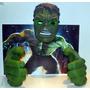 Puños- Guantes Hulk & Máscara Con Luz Led