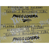 Entrada/platea Paulo Londra