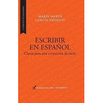 Escribir En Español De Garcia Negroni