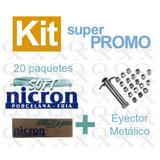 Porcelana Fria Nicron Soft 20 Paquetes + Eyector Metalico