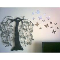 Kit Espejos Acrilicos Mariposas Decoración Pared Chicos Baño