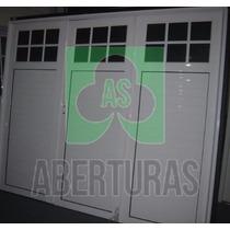 Aberturas: Porton Aluminio 3 H. De Abrir 1/4 Rep. 2,40x2.00