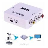 Adaptador Hdmi A Rca Audio Video Tv Led Cable Conversor Señal Convertidor