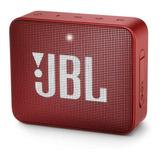 Parlante Jbl Go 2 Portátil Inalámbrico Ruby Red
