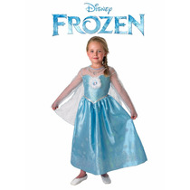Disfraz Disney Pelicula Frozen Elsa Anna Nena Lujo Princesas