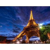 Cuadro De Torre Eiffel, Paris En Canvas Con Bastidor 95x71