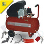 Compresor De Aire 50lts 2.5hp + Kit De 5 Acc