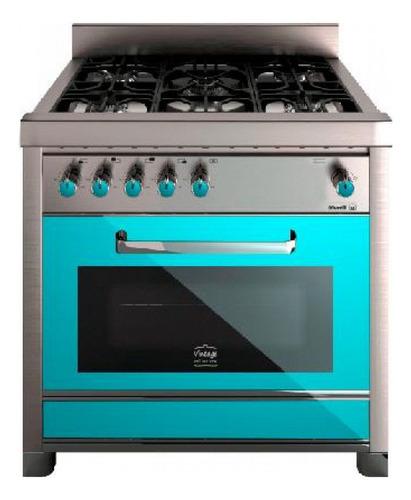 Cocina Morelli Vintage 900 5 A Gas/eléctrica Verde Puerta Visor