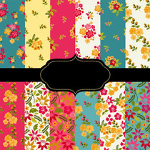 Kit Imprimible Pack Fondos Shabby Chic Hawaianos 007