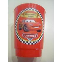 Vasos Plasticos Personalizados Cars Lavables 10u