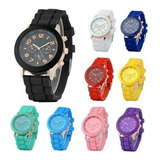 Reloj Pulsera Geneva Silicona X5 Unidades Colores Oferta !! *** Full-time Mania *** Mercadolider Platinum !!